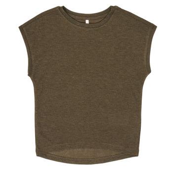 Υφασμάτινα Κορίτσι T-shirt με κοντά μανίκια Only KONSILVERY Black