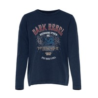 Υφασμάτινα Κορίτσι T-shirt με κοντά μανίκια Only KONLUCY LIFE Marine