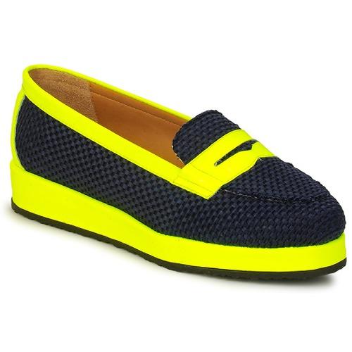 Παπούτσια Γυναίκα Μοκασσίνια MySuelly VALENTINE Black / Yellow