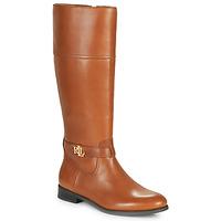 Παπούτσια Γυναίκα Μπότες για την πόλη Lauren Ralph Lauren BAYLEE Cognac