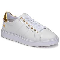 Παπούτσια Γυναίκα Χαμηλά Sneakers Lauren Ralph Lauren ANGELINE II Άσπρο / Gold