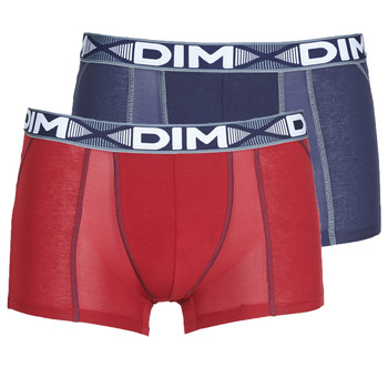 Εσώρουχα Άνδρας Boxer DIM 3D FLEX AIR X 2 Marine / Bordeaux