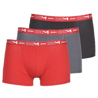 Εσώρουχα Άνδρας Boxer DIM COTON STRETCH Grey / Red / Black