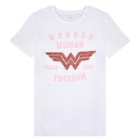 Υφασμάτινα Κορίτσι T-shirt με κοντά μανίκια Name it NKFWONDERWOMEN Άσπρο