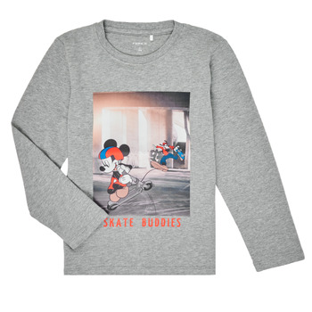 Υφασμάτινα Αγόρι Μπλουζάκια με μακριά μανίκια Name it NMMMICKEY EMIL Grey