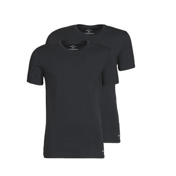 Υφασμάτινα Άνδρας T-shirt με κοντά μανίκια Nike EVERYDAY COTTON STRETCH Black