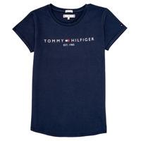 Υφασμάτινα Κορίτσι T-shirt με κοντά μανίκια Tommy Hilfiger KG0KG05242-C87 Marine