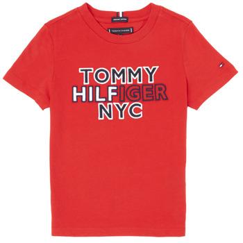 Υφασμάτινα Αγόρι T-shirt με κοντά μανίκια Tommy Hilfiger KB0KB05848-XNL Red