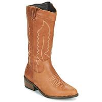 Παπούτσια Γυναίκα Μπότες για την πόλη Musse & Cloud TEDINA Cognac