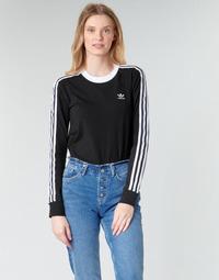 Υφασμάτινα Γυναίκα Μπλουζάκια με μακριά μανίκια adidas Originals 3 STR LS Black