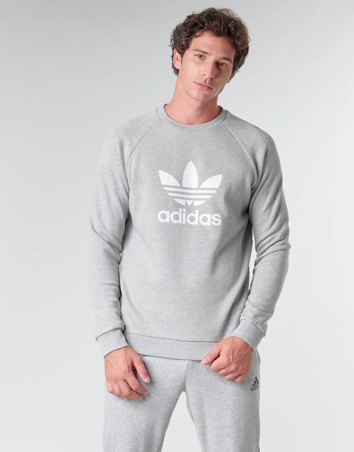 Υφασμάτινα Άνδρας Φούτερ adidas Originals TREFOIL CREW Grey