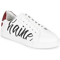 Παπούτσια Γυναίκα Χαμηλά Sneakers Bons baisers de Paname SIMONE AMOUR/HAINE Άσπρο