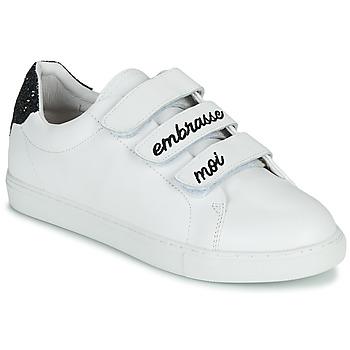 Παπούτσια Γυναίκα Χαμηλά Sneakers Bons baisers de Paname EDITH EMBRASSE MOI Άσπρο