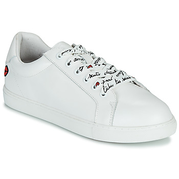 Παπούτσια Γυναίκα Χαμηλά Sneakers Bons baisers de Paname SIMONE IN LOVE LACETS Άσπρο