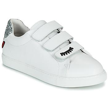 Παπούτσια Γυναίκα Χαμηλά Sneakers Bons baisers de Paname EDITH EYES Άσπρο