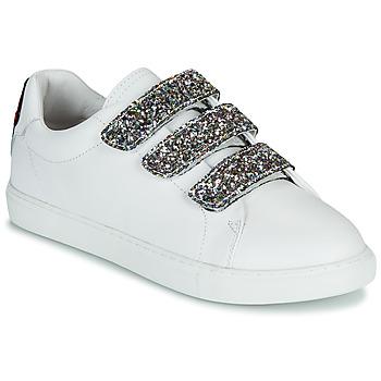 Παπούτσια Γυναίκα Χαμηλά Sneakers Bons baisers de Paname EDITH GLITTER TONGUE Άσπρο