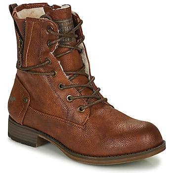 Παπούτσια Γυναίκα Μπότες Mustang 1139630 Cognac
