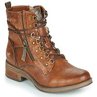 Παπούτσια Γυναίκα Μπότες Mustang 1293601 Cognac