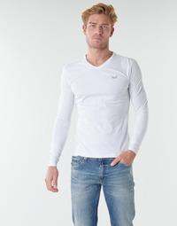 Υφασμάτινα Άνδρας Μπλουζάκια με μακριά μανίκια Kaporal VIFT  μαύρο-άσπρο