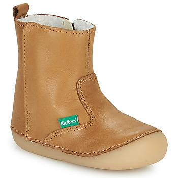 Παπούτσια Κορίτσι Μπότες Kickers SOCOOL CHO Camel