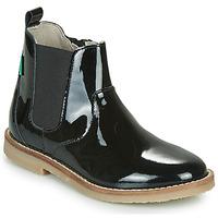 Παπούτσια Κορίτσι Μπότες Kickers TYPIK Black / Verni