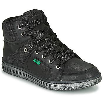 Παπούτσια Κορίτσι Ψηλά Sneakers Kickers LOWELL Black