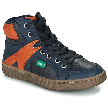 Παπούτσια Αγόρι Ψηλά Sneakers Kickers LOWELL Marine / Orange