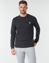 Υφασμάτινα Άνδρας Μπλουζάκια με μακριά μανίκια Timberland LS Dunstan River Tee Black