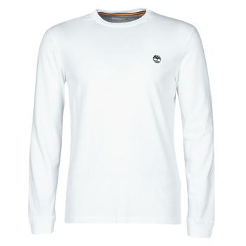 Υφασμάτινα Άνδρας Μπλουζάκια με μακριά μανίκια Timberland LS Dunstan River Tee Άσπρο