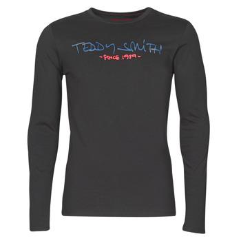 Υφασμάτινα Άνδρας Μπλουζάκια με μακριά μανίκια Teddy Smith TICLASS BASIC M Black