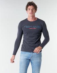 Υφασμάτινα Άνδρας Μπλουζάκια με μακριά μανίκια Teddy Smith TICLASS BASIC M Marine