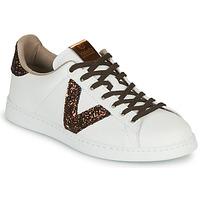 Παπούτσια Γυναίκα Χαμηλά Sneakers Victoria TENIS PIEL VEG Άσπρο / Brown