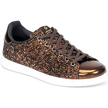 Παπούτσια Γυναίκα Χαμηλά Sneakers Victoria TENIS GLITTER Bronze