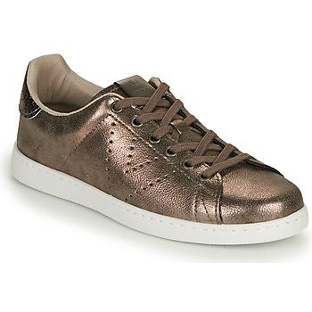 Παπούτσια Γυναίκα Χαμηλά Sneakers Victoria TENIS METALIZADO Gold
