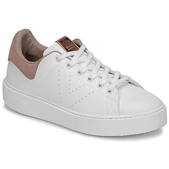Παπούτσια Γυναίκα Χαμηλά Sneakers Victoria UTOPÍA PIEL VEG Άσπρο / Ροζ