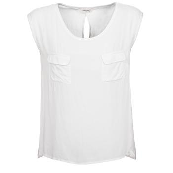 Υφασμάτινα Γυναίκα Αμάνικα / T-shirts χωρίς μανίκια Naf Naf KLOPA Ecru
