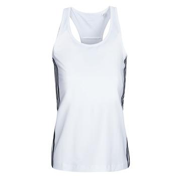Υφασμάτινα Γυναίκα Αμάνικα / T-shirts χωρίς μανίκια adidas Performance W D2M 3S TANK Άσπρο