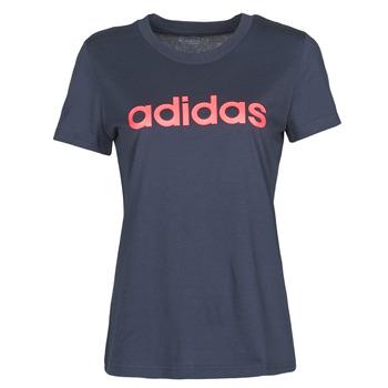 Υφασμάτινα Γυναίκα T-shirt με κοντά μανίκια adidas Performance W E LIN SLIM T Encre / Légende