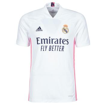 Υφασμάτινα T-shirt με κοντά μανίκια adidas Performance REAL H JSY Άσπρο