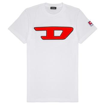 Υφασμάτινα Παιδί T-shirt με κοντά μανίκια Diesel TJUSTDIVISION Άσπρο