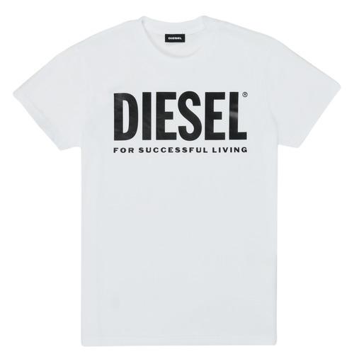 Υφασμάτινα Παιδί T-shirt με κοντά μανίκια Diesel TJUSTLOGO Άσπρο