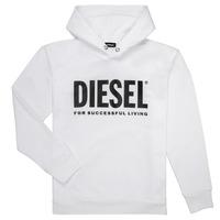 Υφασμάτινα Αγόρι Φούτερ Diesel SDIVISION LOGO Άσπρο