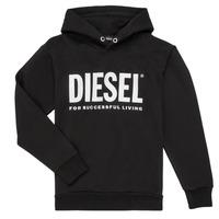 Υφασμάτινα Αγόρι Φούτερ Diesel SDIVISION LOGO Black