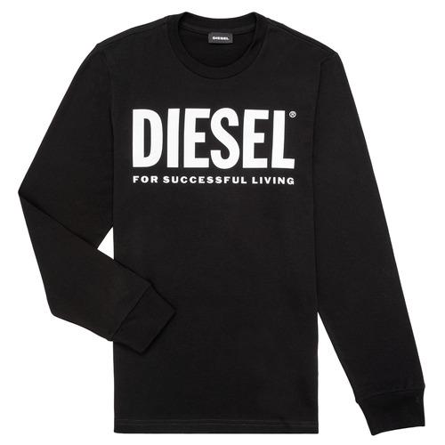 Υφασμάτινα Παιδί Μπλουζάκια με μακριά μανίκια Diesel TJUSTLOGO ML Black