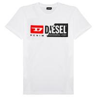Υφασμάτινα Παιδί T-shirt με κοντά μανίκια Diesel TDIEGOCUTY Άσπρο