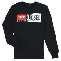 Υφασμάτινα Παιδί Μπλουζάκια με μακριά μανίκια Diesel TDIEGOCUTY Black
