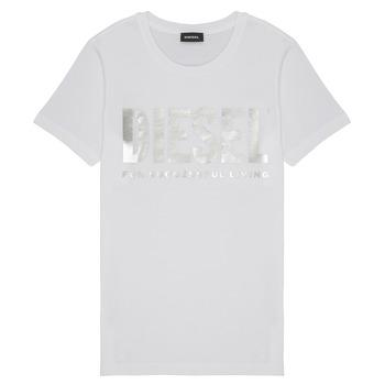 Υφασμάτινα Κορίτσι T-shirt με κοντά μανίκια Diesel TSILYWX Άσπρο