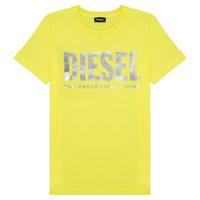 Υφασμάτινα Κορίτσι T-shirt με κοντά μανίκια Diesel TSILYWX Yellow