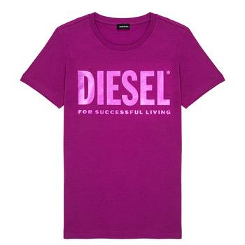 Υφασμάτινα Κορίτσι T-shirt με κοντά μανίκια Diesel TSILYWX Ροζ