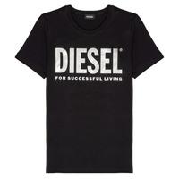 Υφασμάτινα Κορίτσι T-shirt με κοντά μανίκια Diesel TSILYWX Black